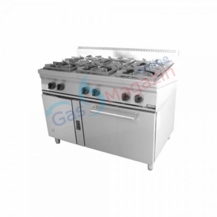 Газова печка VIMITEX с 6 горелки, стандартна газова фурна