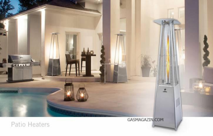 Газова пирамида за външно отопление, Инокс