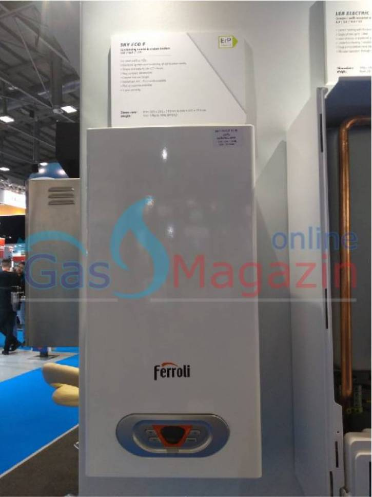 Газов бойлер Ferroli sky eco f17 задаване на градуси и 220V