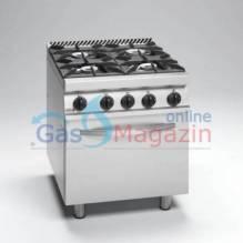 FAGOR CGE7-41, комбинирана професионална печка, ел. фурна +4 газ