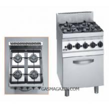 FAGOR CGE6-41, комбинирана професионална печка, ел. фурна +4 газ