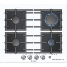 Газов готварски плот, бяло темперирано стъкло Bosch, PPP612M91E