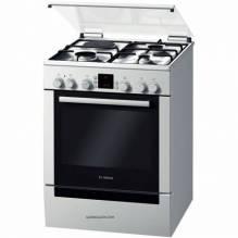 Комбинирана готварска печка, неръждаема стомана Bosch, HGV74D253